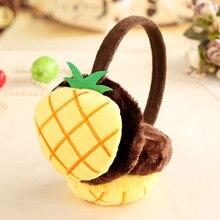 Детские наушники с фруктами для мальчиков и девочек в корейском японском стиле, милые плюшевые осенне-зимние утепленные наушники высокого качества