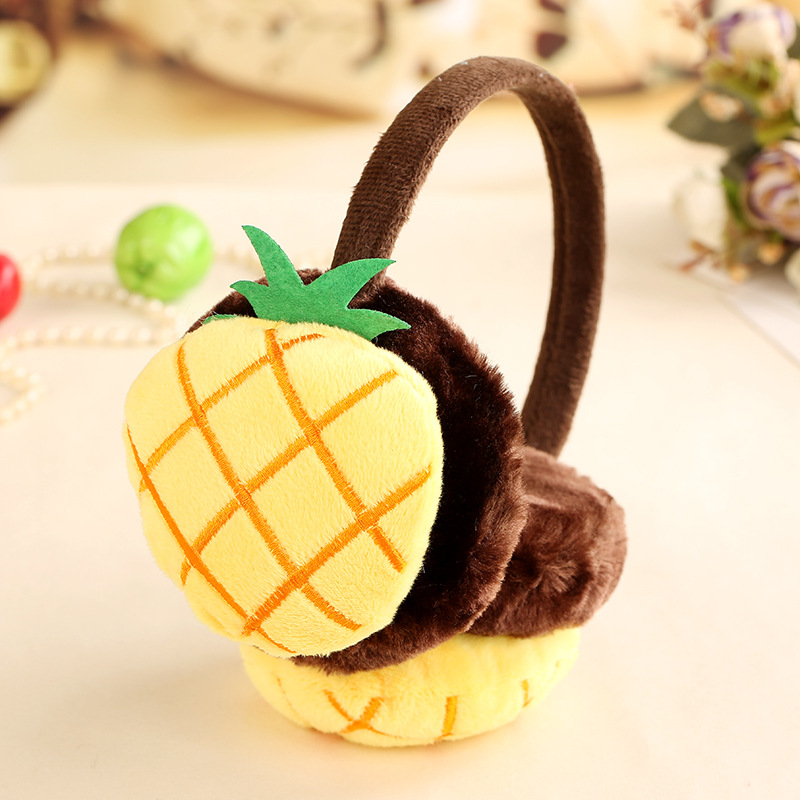 Child Fruits Earmuffs Boys Girls Korean Japanese Style Lovely Cartoon Plush Autumn Winter Warm Thickening High Quality Earmuffs