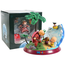Mestre roshi & criança kakarotto krillin estátua pvc figura collectible modelo de brinquedo