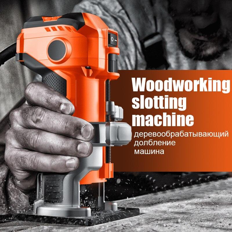 Máquina de corte, herramienta de carpintería, inversión, fresado eléctrico de madera, apertura de agujero, fresado de madera móvil electromecánico 15 unids/set fresas para carpintería 1/4 ''/8mmShank broca de enrutador de carburo para cortador de madera herramientas de corte de grabado
