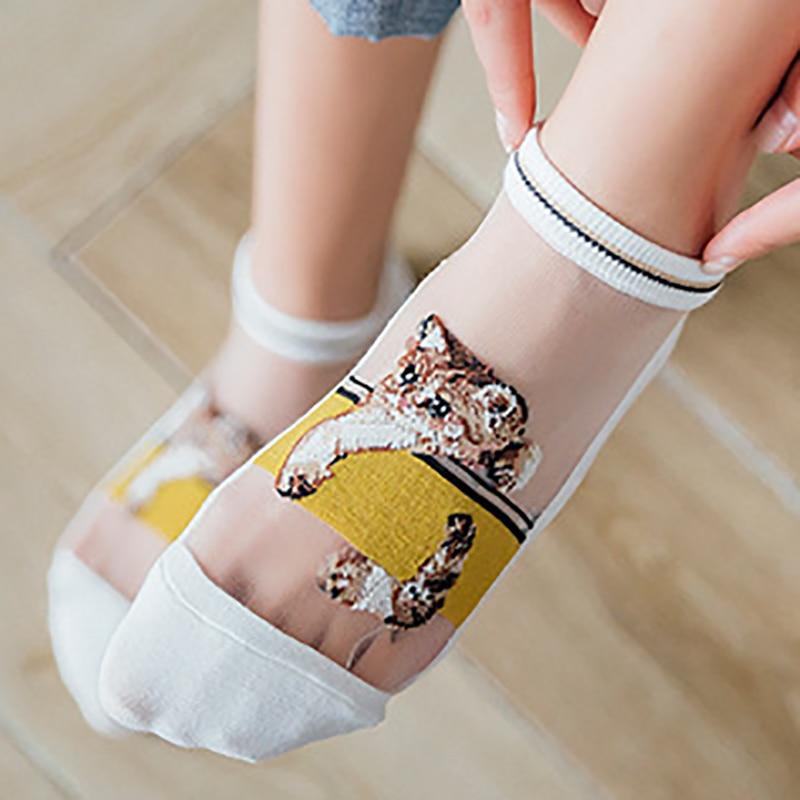Fashion Available Lovely Cat Design Soft Cotton Sock Women Girl Short Socks