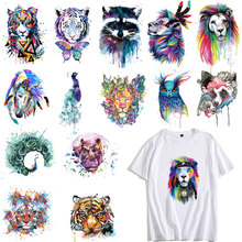 Cute Colorful Lion Dog Owl Tiger Animals Patches Clothing Applications Heat Transfer Fusible Stickers DIY Tops PVC E