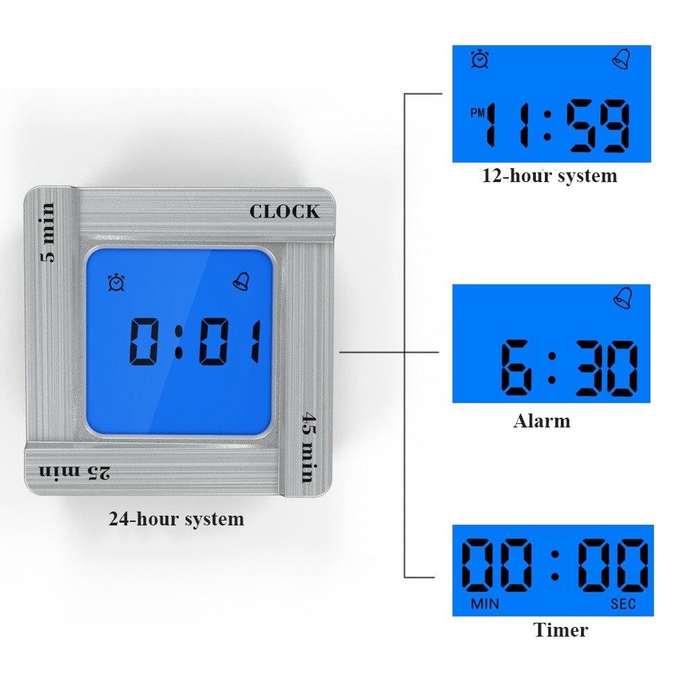 Creative Digital Timer Alarm Clock Shake-timing Function Snooze Function