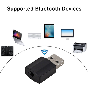 USB Bluetooth 5.0 Music Transmitter Receiver Headphone Speaker Soundbox Wireless Audio Adapter for iPad Computer TV image