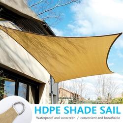 HDPE wodoodporna osłona przeciwsłoneczna osłona przeciwsłoneczna ochrona zewnętrzna zadaszenie ogród Patio basen żagiel przeciwsłoneczny markiza Camping namiot piknikowy anty-uv