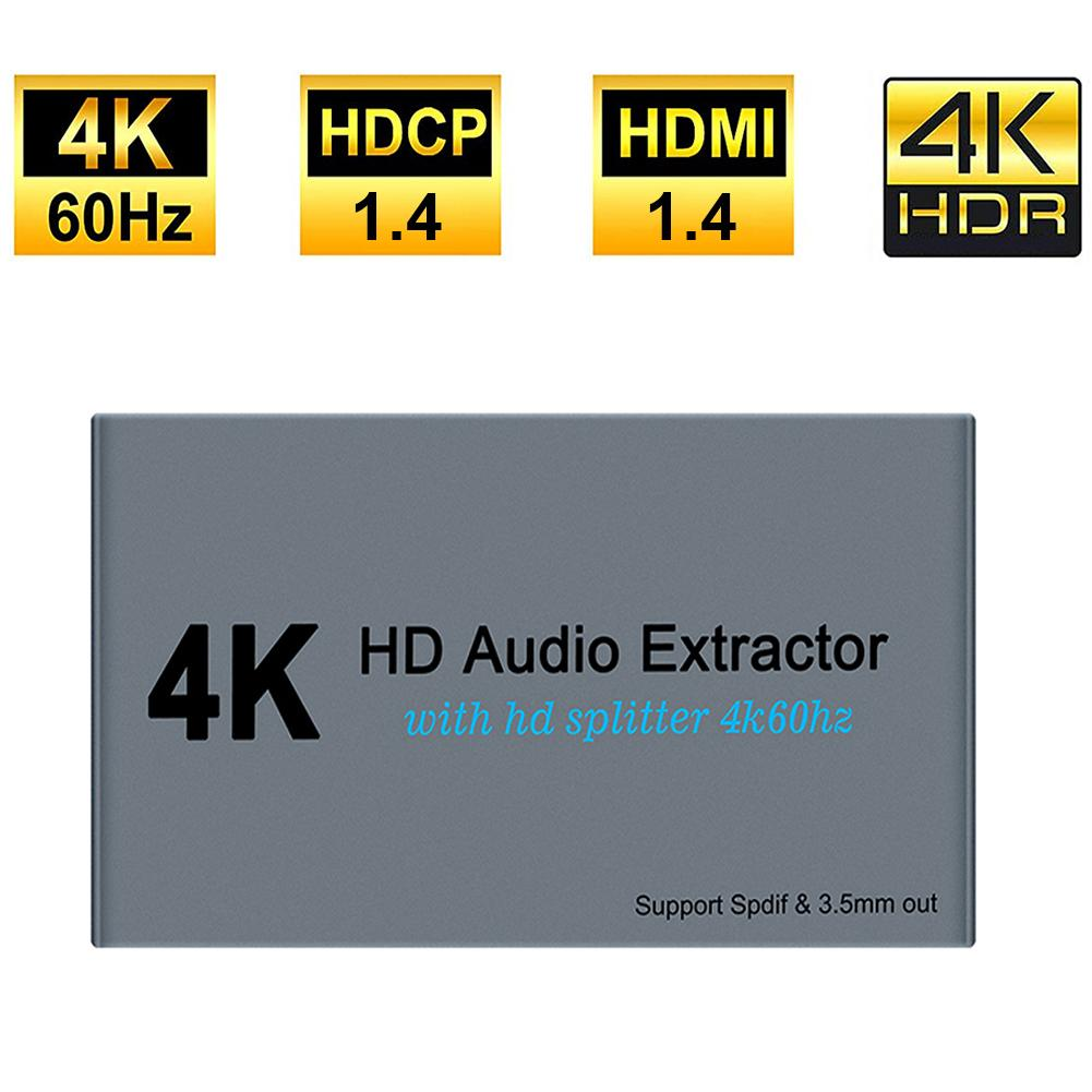 HDMI Splitter HDMI Audio Extractor Splitter Converter 4K For PS4 PS3 Laptop Computer HDTV Multiport HDMI Switcher Adapter