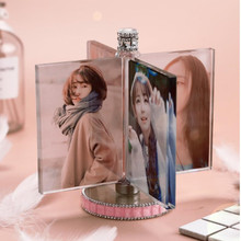 Rotated Windmill Crystal Photo Frame Glass Album for Pictures Friends Unusual Personalized Gift Hold 4 Pic Custom Made