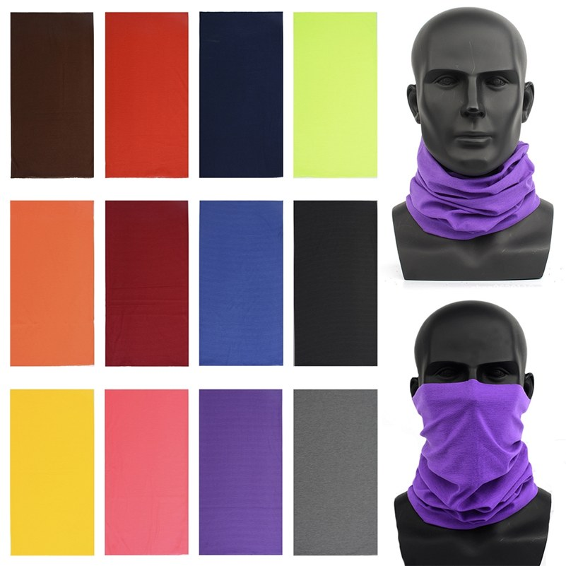 Men Women's Turban Magic Scarf Outdoor Sports Bicycle Riding Headband Bike Cycling Balaclava Neck Tube Warmer Bandanas Face Mask
