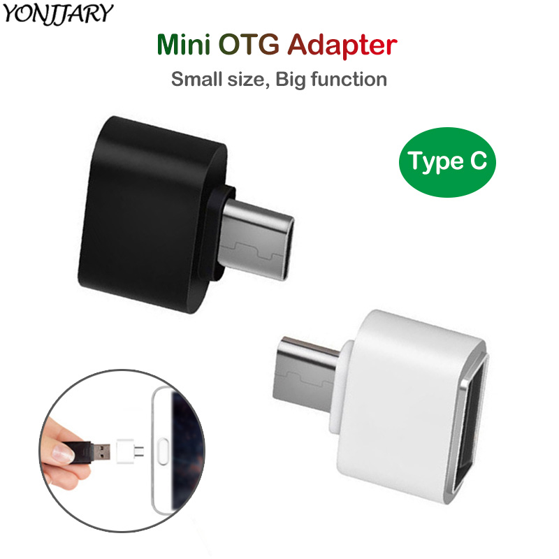 2Pcs USB Type C OTG <font><b>Adapter</b></font> for Huawei Honor <font><b>USBC</b></font> <font><b>Adapter</b></font> OTG Reader for <font><b>Xiaomi</b></font> Mi 9 9T U Disk Connector for Samsung S10 Oneplus image