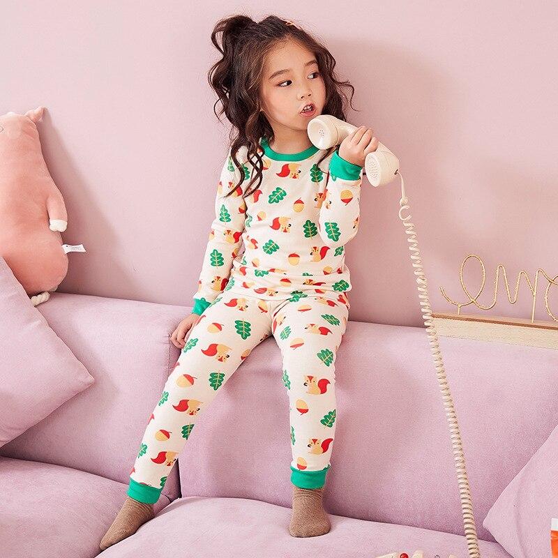 Children Pure Cotton Underwear Suit Cotton Pajamas Baby BOY'S Girls Cotton Jersey Spring And Autumn Kids Thermal Underwear Fashi
