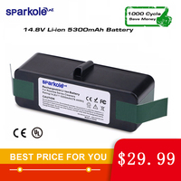 5.3Ah 14.8V Li ion Battery for iRobot Roomba 500 600 700 800 Series 510 531 555 560 580 620 630 631 650 670 770 780 790 870 880|Vacuum Cleaner Parts| |  -