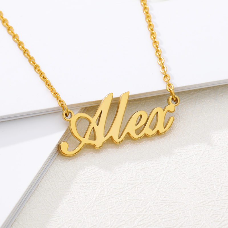 Fashion Custom Name Pendant Necklace Cursive Arabic Crown Heart Nameplate Necklaces Choker Stainless Steel Bijoux Party Gifts BF 1