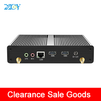 XCY Clearance Sale Mini PC Fanless Celeron N2807 2*HDMI 1.58GHz Windows 10 Wifi 6*USB TV BOX HTPC Family Computer PC