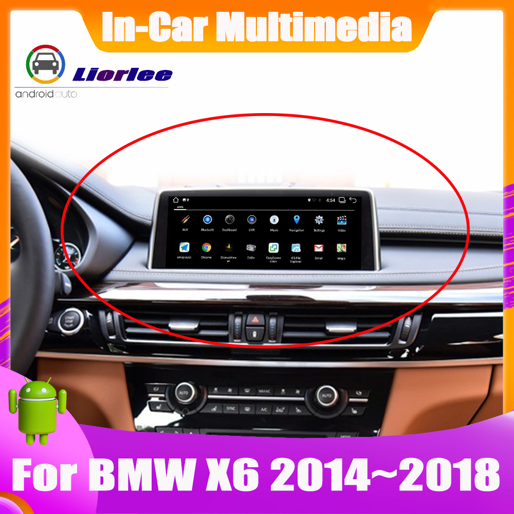 10.25 Inch Android system Car <font><b>GPS</b></font> Navigation <font><b>For</b></font> <font><b>BMW</b></font> <font><b>X6</b></font> F16 2014~2018 Radio Audio Video HD Touch Screen image