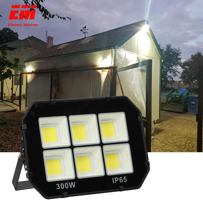 50W 100W 200W 300W COB LED Flood Light Waterproof AC110V 220V LED Floodlight Outdoor Projector Lamp Spotlight For Garden ZFG0010