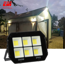 50W 100W 200W 300W COB LED Flood Light Waterproof AC110V 220V LED Floodlight Outdoor Projector Lamp Spotlight for Garden ZFG0010