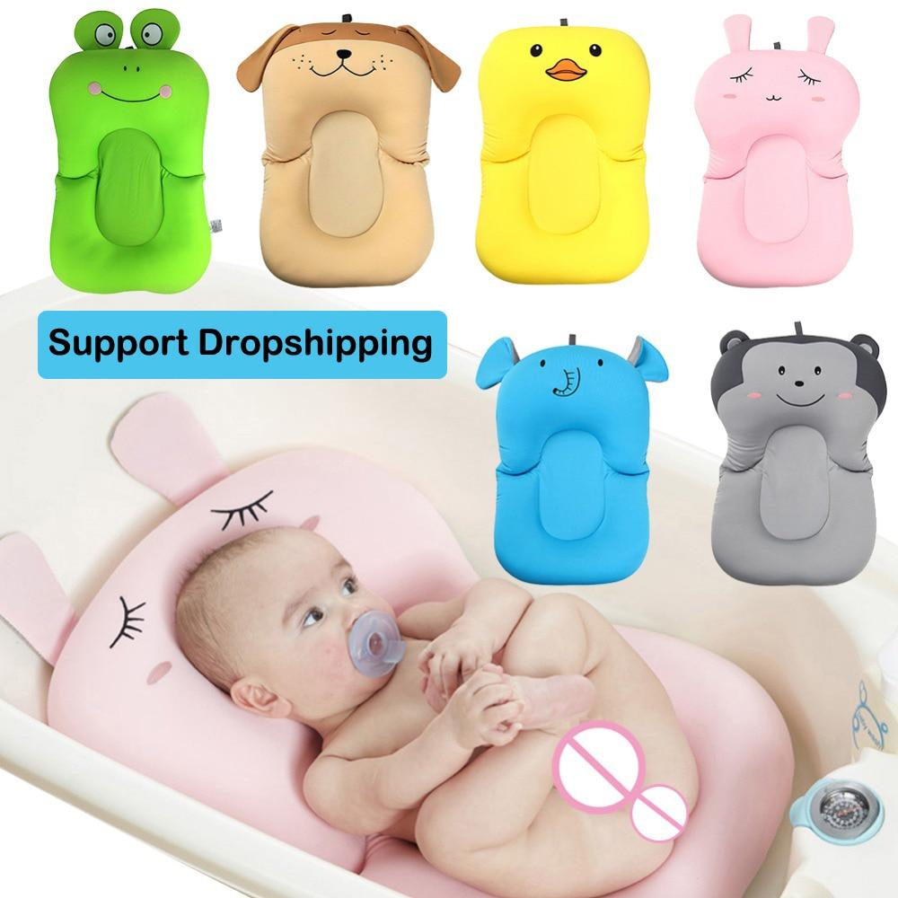 Chuveiro portátil almofada de ar cama bebês infantil almofada de banho antiderrapante banheira esteira segurança recém-nascido assento de banho