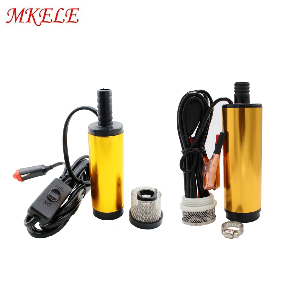 Submersible Pump DC 12V 24V Water Oil Diesel Fuel Transfer Refueling Tool 38mm 51mm 30L/min Kerosene Oil Pump Aluminum Alloy