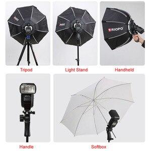 Image 2 - Triopo 90cm Speedlite Portable Softbox w/ Honeycomb Grid Outdoor Flash Octagon Umbrella Soft Box for Canon Nikon Godox Yongnuo