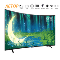 free shipping curved smart led television 4k Ultra HD android tv 50 inch curved led tv screen with bluetooth