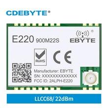 LLCC68 868MHz 915MHz SMD LoRa Wireless Module 22dBm E220-900M22S 6km Smart Home Long-distance Wireless Communication Equipment