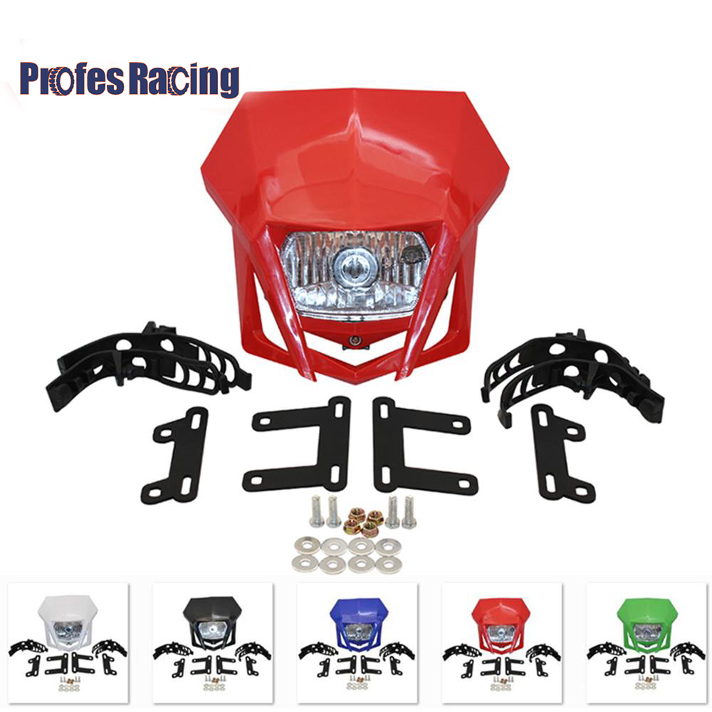 Universal Motorcycle Headlight Headlamp Fairing Farol De Milha Para Moto For HONDA XR CRF 150 230 250 450 Dirt Bike