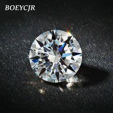 Boeycjr D Warna 0.5/0.6/0.8/1/1.2/1.5/2/2.5/3 /3.5/4/4.5/5ct Bulat Brilian Moissanite Berlian Longgar Manik Perhiasan Aksesoris(China)
