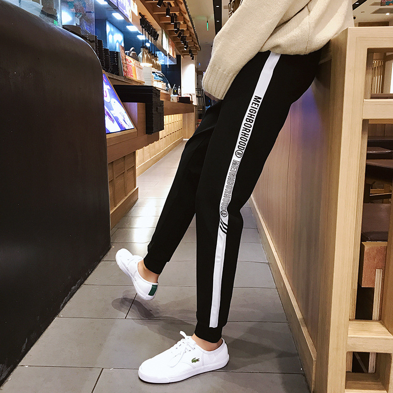 Popular Brand Men'S Wear 2019 Autumn And Winter Elastic Waistband Casual Pants INS Beam Leg Skinny Sweatpants Trousers Sports Ha