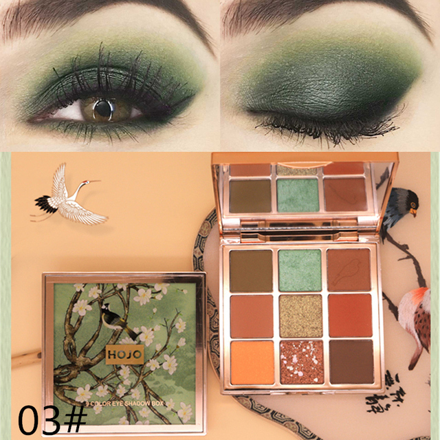 HOJO brand 9 Colors Eye Shadow makeup Palette Baked Shimmer Matte nude Eyeshadow Waterproof Glitter Powder Beauty Cosmetics 3