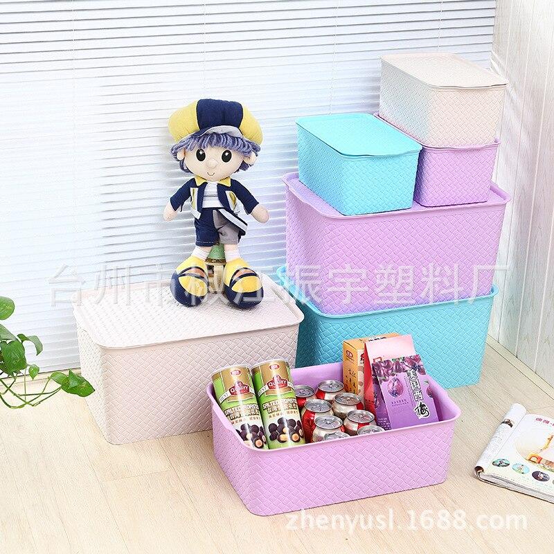 И красивый Шелковый модный многофункциональный с крышкой отделочный ящик пластиковый ящик для хранения одежды мусор ящик для хранения