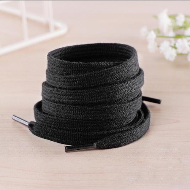 1 para bawełniane grube płaskie sznurowadła szerokie sportowe obuwie casual koronki trampki 100-160cm biały czarna porządna kolor tanie i dobre opinie KAIGOTOQIGO COTTON Stałe lace men s shoes men shoes shoe laces shoelaces