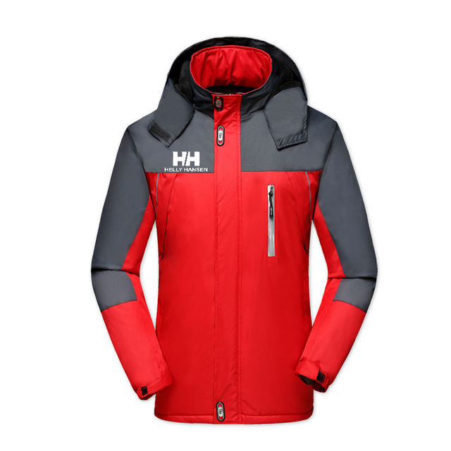 Men's Jackets Waterproof Spring Helly Hansen Printed Hooded Coats Men Women Outerwear Helly Solid Casual Brand Male Clothing