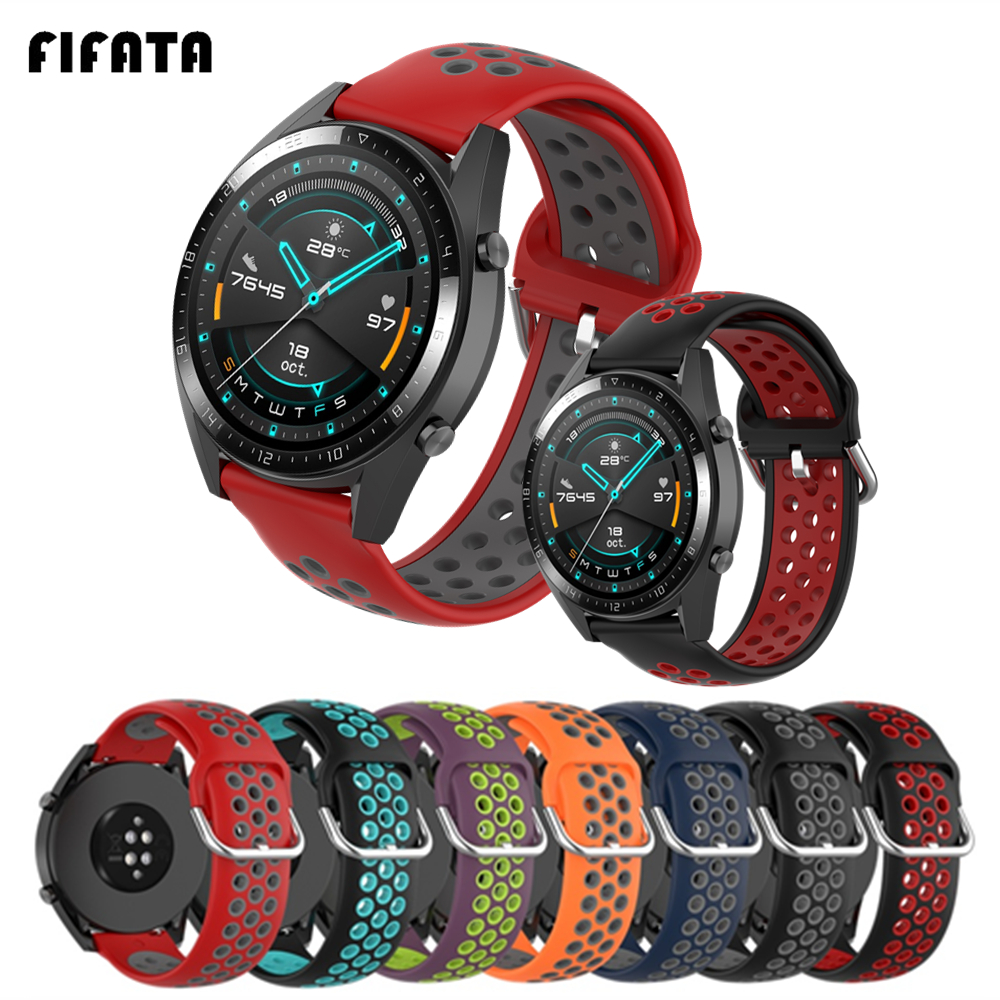 FIFATA Smart Watch Bracelet Strap For Huawei Watch GT2 / GT Silicone Watch Band For Honor Magic 2/1 Sport Wrist Strap Accessory