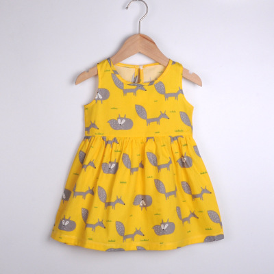 VIDMID baby girls summer short sleeve dresses cotton clothes folwers dresses kids girls casual dresses children clothing 7119 01 2