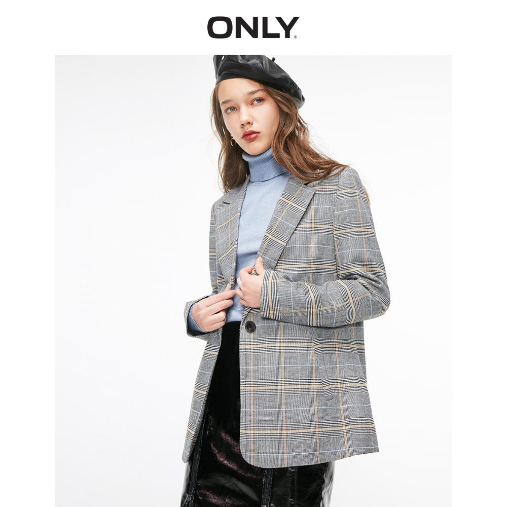 ONLY2019 summer new plaid loose casual blazer   |  119308501 outfits para playa mujer 2019