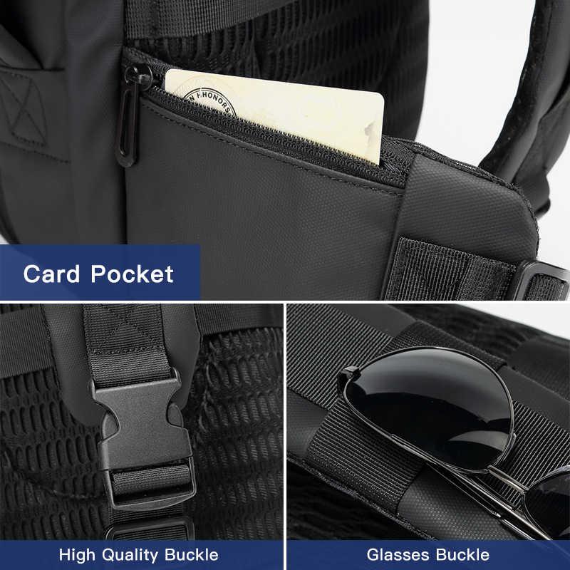 OZUKO erkekler 12.5 inç iPad büyük kapasiteli Crossbody çanta su geçirmez Messenger omuzdan askili çanta göğüs paketi iş askılı çanta erkek