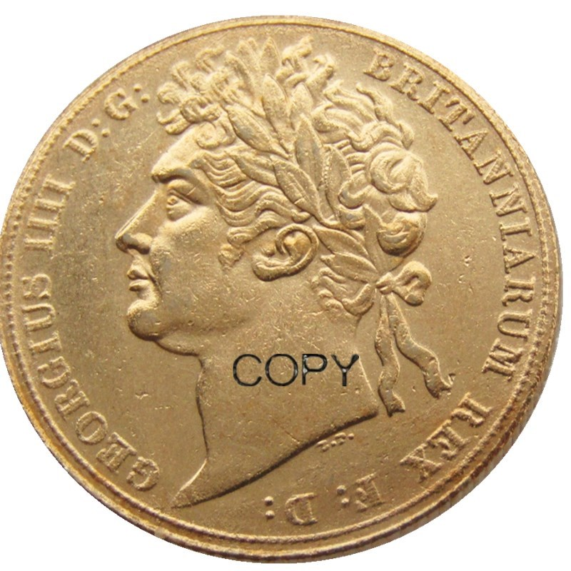 1822EF Great Britain George IV IIII Gold Plated Full Sovereign Coin