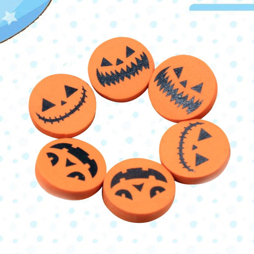 96pcs Pumpkin Shaped Eraser Creative Stationary Eraser for Kids Students