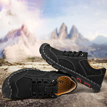 купить New Design Large Size 38-46 Men's Hiking Shoes Non-slip Lace-up Breathable Outdoor trekking sneakers Men Mountain climbing shoes дешево
