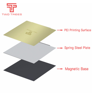Image 2 - Removal Spring Steel Sheet Pre applied PEI Flex Magnetic Hot Sticker 220x220 235x235 310x310mm for 3D Printer Heat bed Sapphire