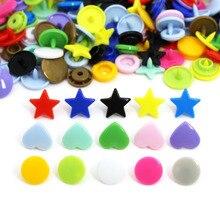 20 комплектов KAM кнопки T3/T5 пластиковая кнопка, защелка для ребенка 15 цветов кнопки для одежды звезда/Сердце/круглая форма защелкивающаяся застежка