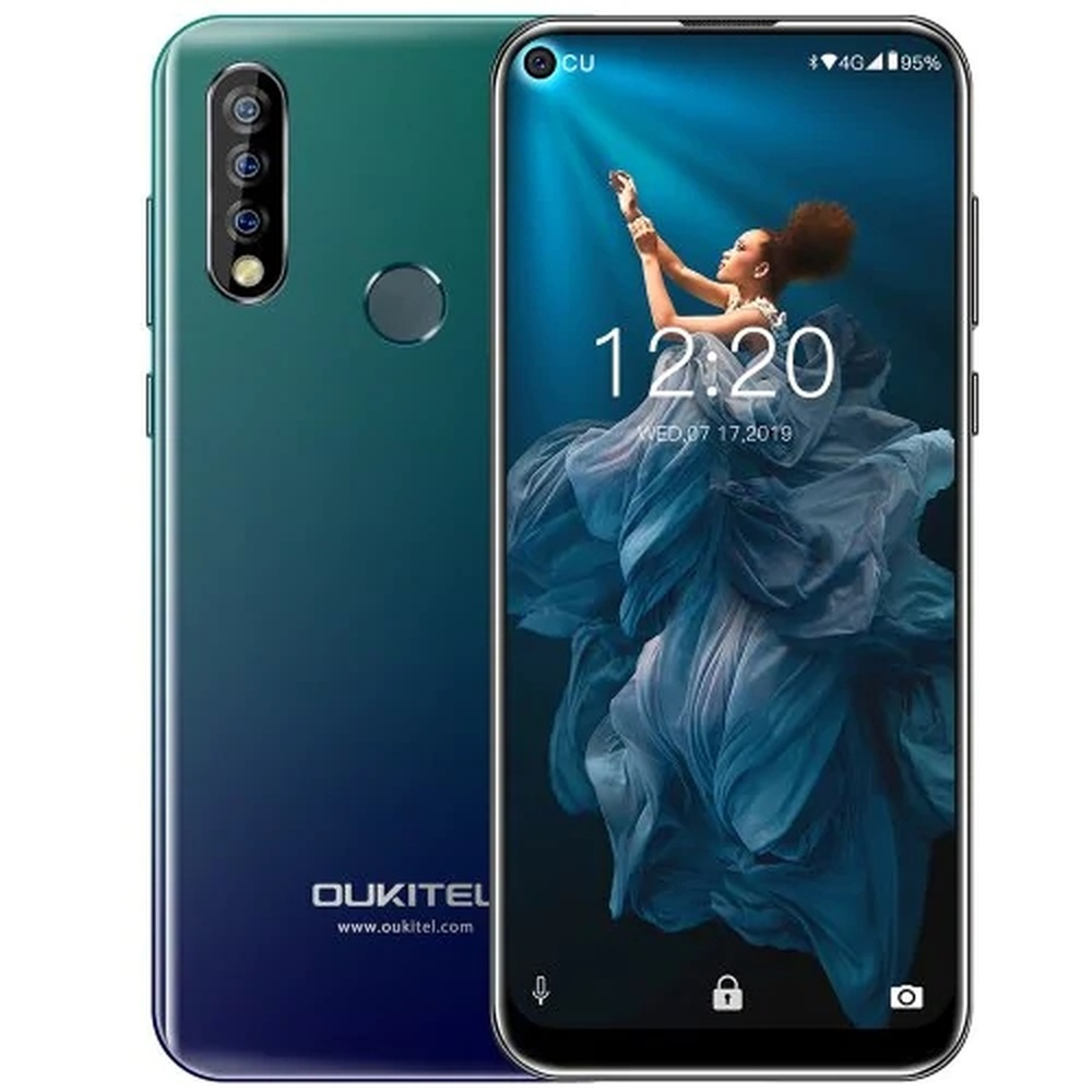 "OUKITEL C17 SmartPhone 3GB RAM 16GB ROM 6.35"" 19.5:9 Android 9.0 MTK6765 Quad Core 3900mAh Face ID Fingerprint 4G Mobile Phone"