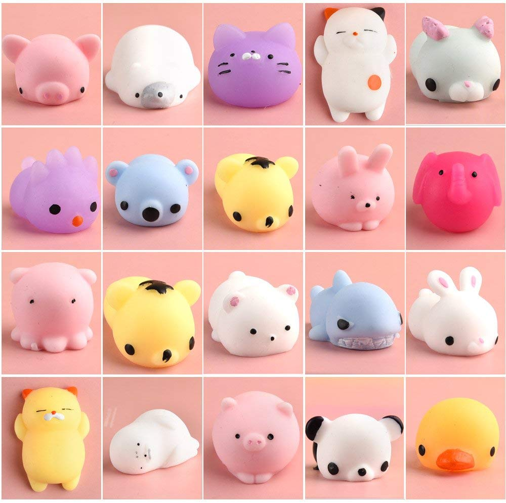 Kawaii Mochi Squishy Pack Mini Animal Antistress Ball Squeeze Toys Squishi Rising Stress Relief Squishy Toy Pets Fun Gift