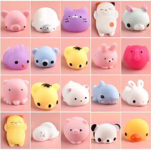 Kawaii Mochi Squishy Pack, миниатюрный мячик для снятия стресса с животных, сжимаемые игрушки, сжимаемые игрушки для снятия стресса, мягкие игрушки для ...