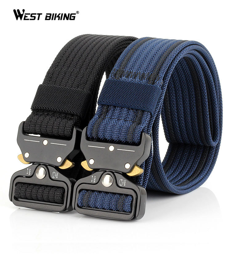 Military Tactical Nylon Belt Metal Buckle Adjustable Army Police Outdoor Quick Release Hunting Training Outdoor Buckle Belt