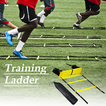 Yellow Agility Speed Jump ladder Soccer Agility Outdoor Training Football Fitness Foot Speed Ladder 3M 4M 6M недорого
