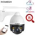 INQMEGA Cloud 1080P уличная PTZ IP камера wifi скоростная купольная камера с функцией автоматического слежения 5X оптический зум 2MP Onvif IR CCTV камера безопас...