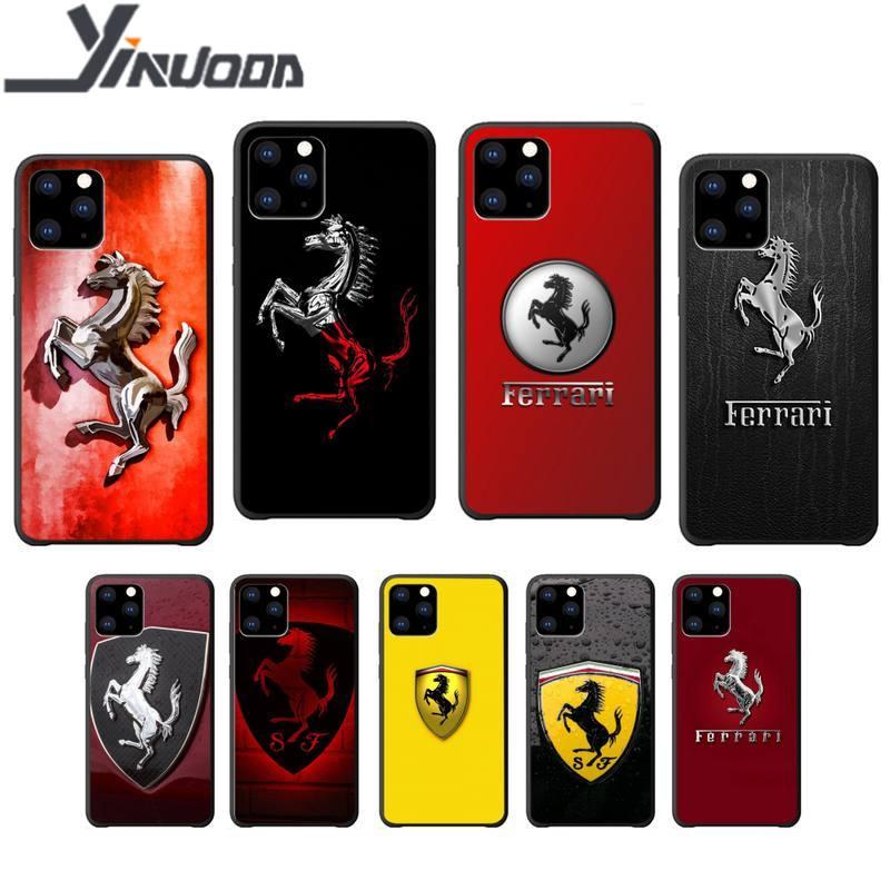 Motirunner Ferrari Luxury phone case coque for iphone 5s se 2020 6 6s 7 8 plus x xs max xr 11 pro max silicone cases coque
