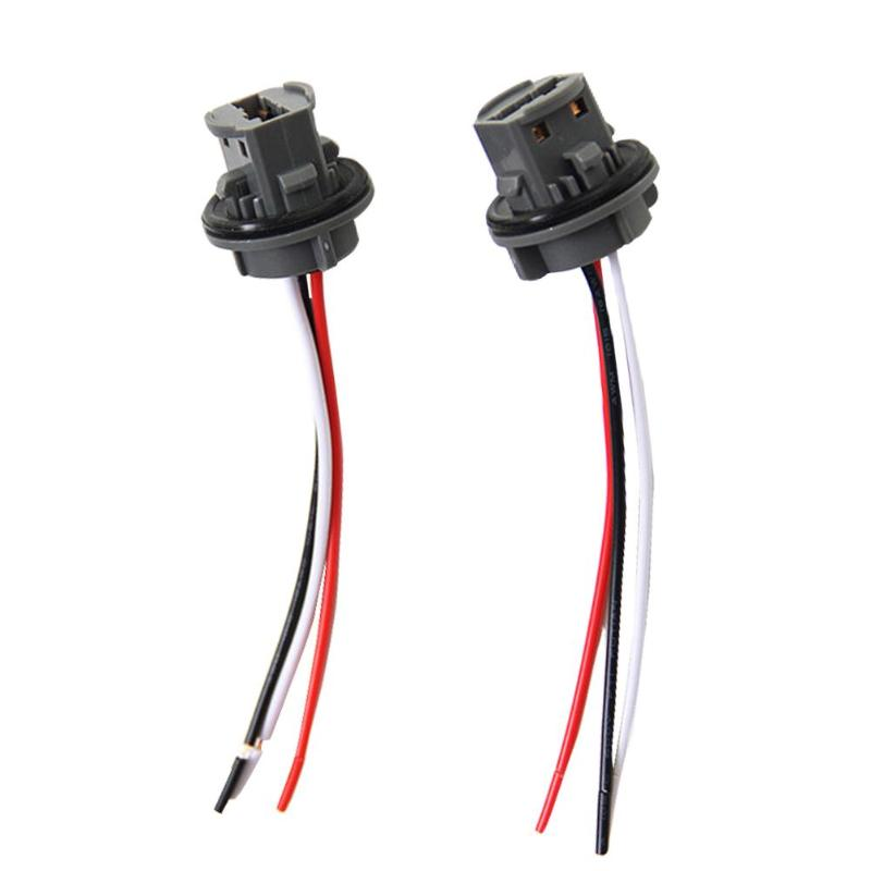 2pcs T20 7443 Car Bulb Holder Lamp Socket Adapter LED Side Light Connector
