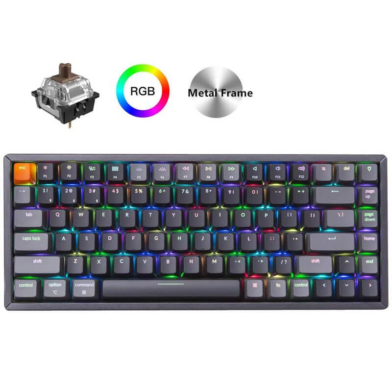 Клавиатура Keychron K2 C, механическая алюминиевая рама, беспроводная, Bluetooth, USB, компактные 84 клавиши, RGB подсветка, N Key, Rollover Клавиатуры      АлиЭкспресс